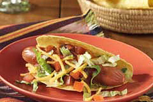 mexican cheesy hot dog tacos recipe picture