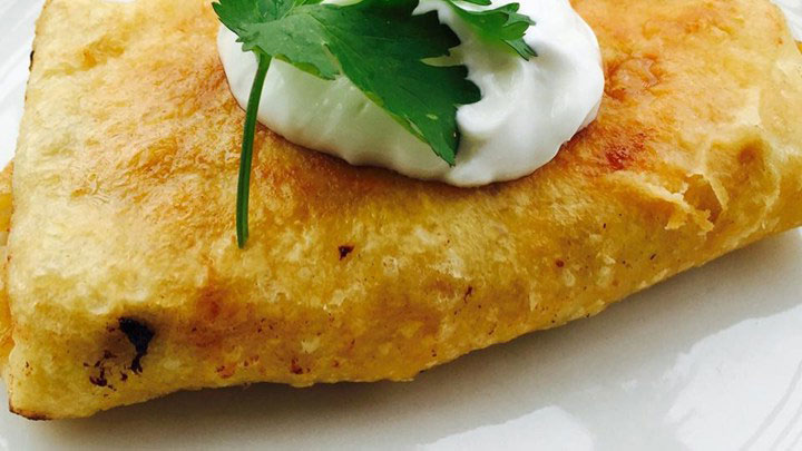 Chicken Chimichangas with Sour Cream Sauce Recipe