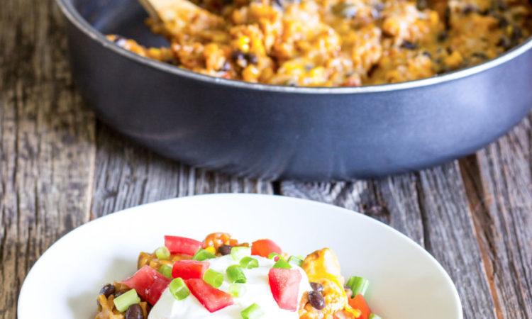 One Pot Wonder Chicken Enchilada Bowls Recipe
